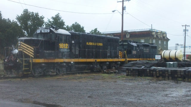locomotives parked