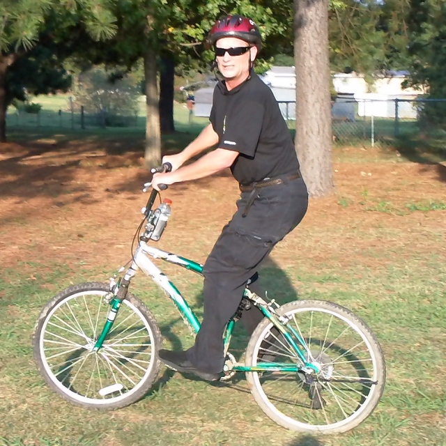 me on my bicycle in arkansas