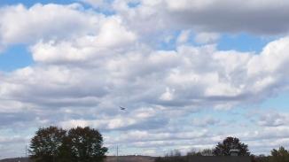 a plane in the arkansas sky