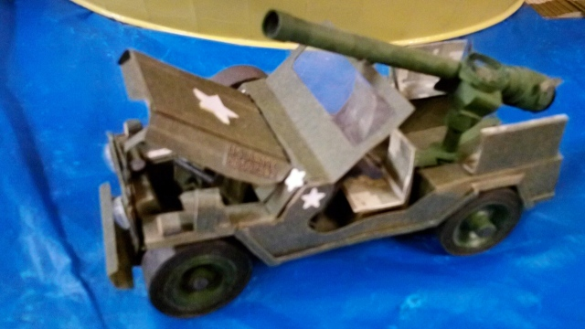 hand made paper jeep