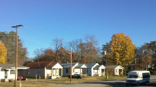 small town autumn in arkansas