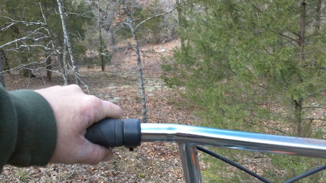 i scramble threw the woods to the waypoint