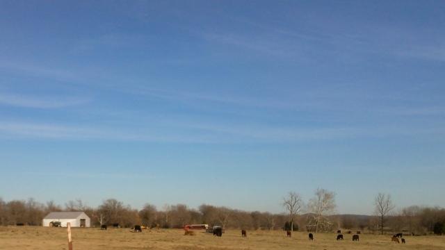 the sky above a farm