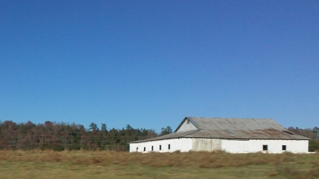 some barns are painted white and become a church